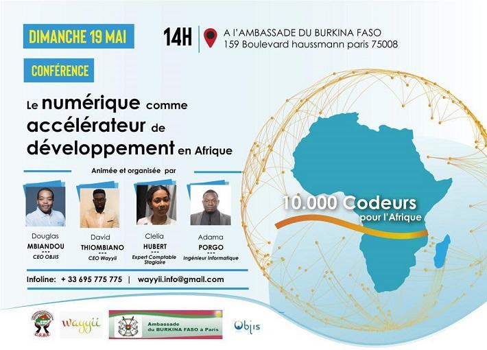 Ambassade du Burkina à Paris: Conférence sur le numérique comme accélérateur de développement en Afrique