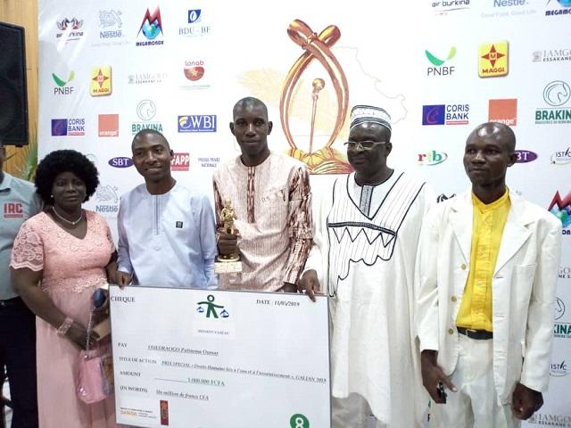 Galian 2019: Paténéma Oumar Ouédraogo, lauréat du prix spécial de la Mission Fas'eau