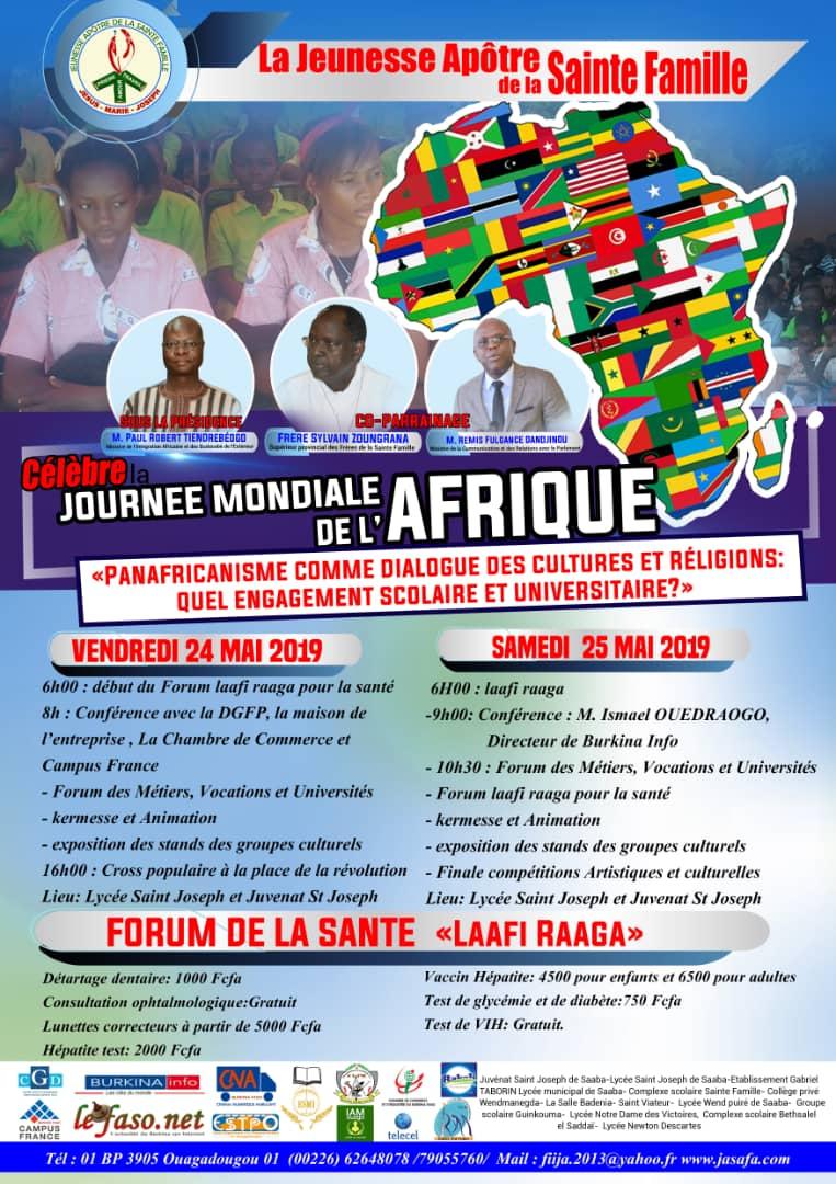 La jeunesse Apôtre de la Sainte Famille célèbre la journée mondiale de l'Afrique les 24 et 25 mai 2019