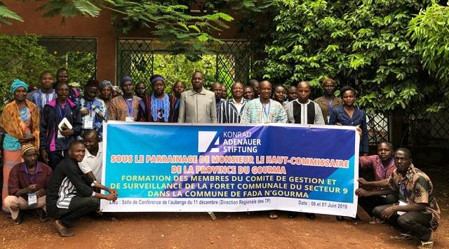 Forêt communale de Fada N'Gourma: La Fondation Konrad Adenauer outille les comités de gestion et de surveillance