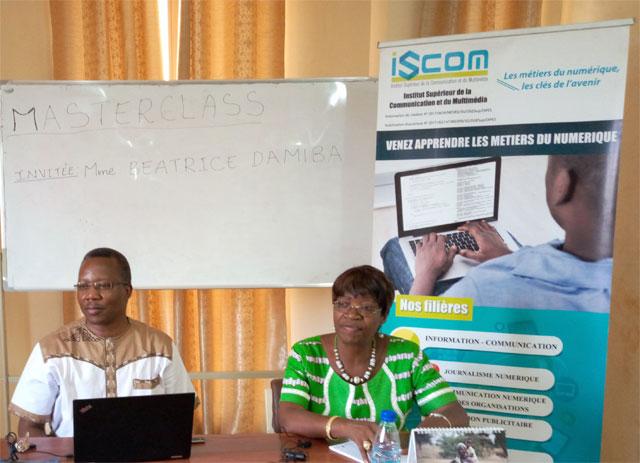 Béatrice Damiba au masterclass de l'ISCOM: «Sur le plan professionnel, être femme ne doit pas être considéré comme une faveur ou un inconvénient»