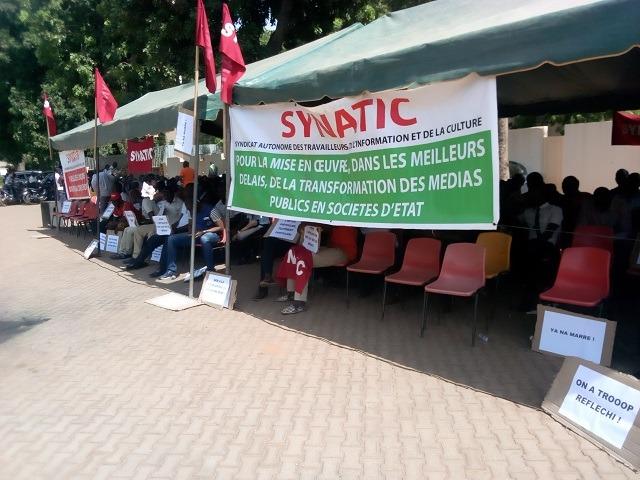 Médias publics burkinabè: 3 heures d'arrêt de travail pour réclamer le passage à l'EPE