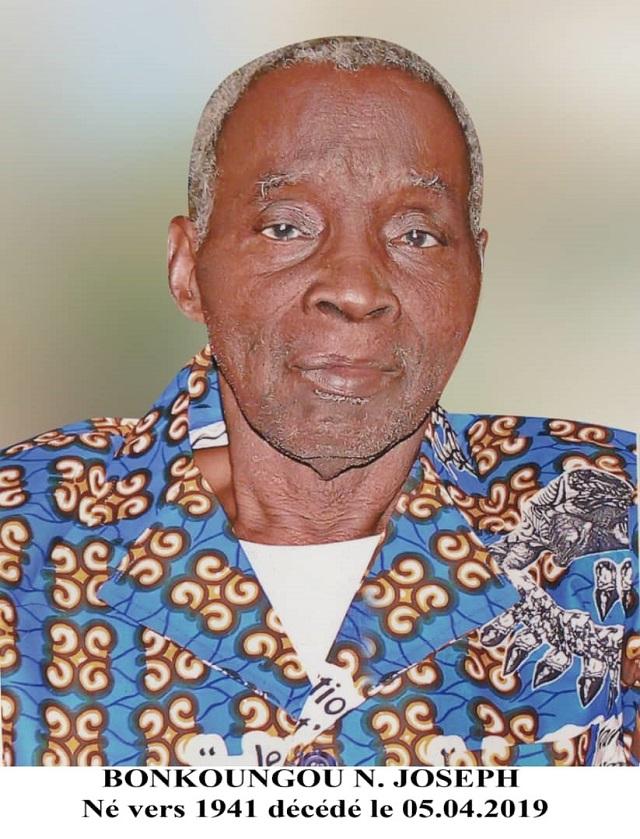 Décès de BONKOUNGOU Noraogo Joseph: Remerciements et faire part