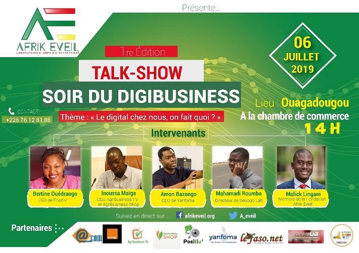 Arik Eveil présente la 1re édition du Talk-show soir du digibusiness