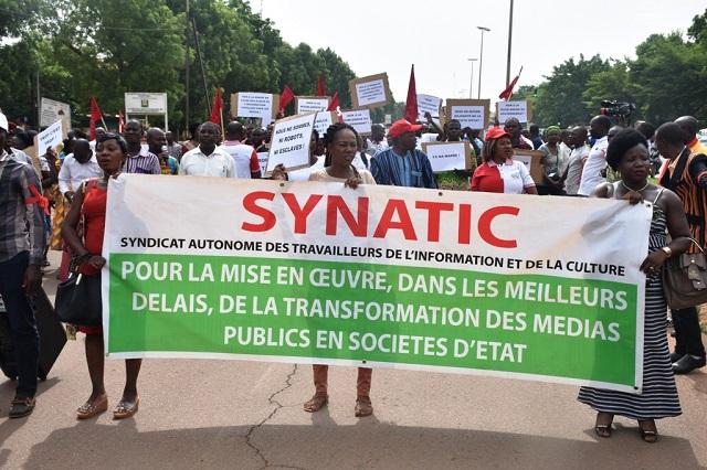 SYNATIC: Une marche sur le Premier ministère après deux jours de sit-in