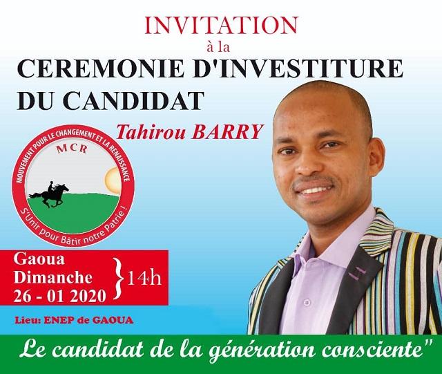 Présidentielle 2020 : Tahirou Barry sera investi à Gaoua le 26 ...