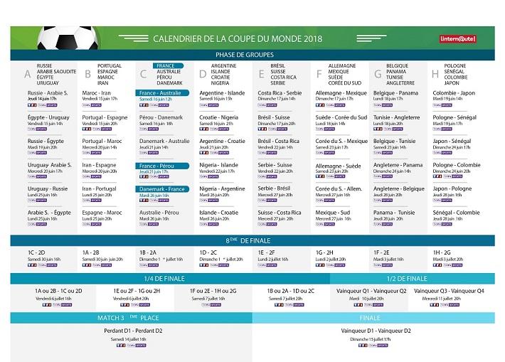 Eliminatoire Can 2019 Calendrier.Coupe Du Monde 2018 Voici Le Calendrier Des Matchs