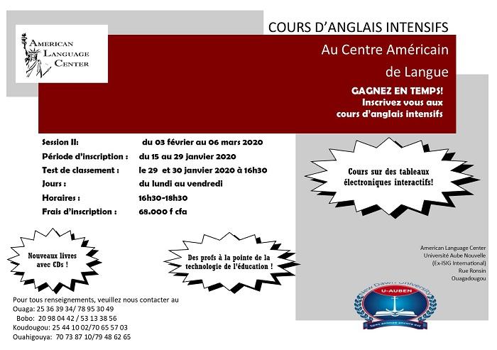 Gagnez En Temps Inscrivez Vous Aux Cours D Anglais Intensifs Au Centre Americain De Langue Lefaso Net