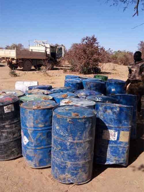 Burkina Faso: L'armée fait une importante découverte d'une cache d'armes terroriste...Photos