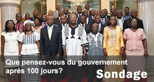 Les 100 jours du gouvernement Thieba : Sondage